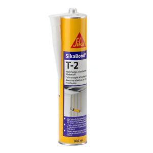 SikaBond T2 1K, elastischer Akustik-Klebstoff 12 x 300 ml weiß, 12er Pack