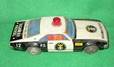 Vintage Old P.D. Highway Petrol 12 Battery Operated Car Toy Taiyo Made In Japan