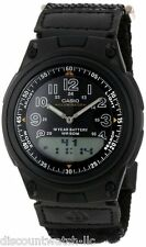 Casio AW80V-1B Mens 30-Page Data Bank Analog Digital Watch 10 Year Battery 50M