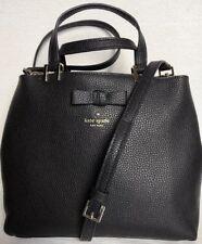 New Kate Spade New York Gwyn Pershing Street Leather Satchel Black