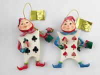 Mark Roberts Alice in Wonderland Ornament Set of 2 Card Soldiers NWT Christmas