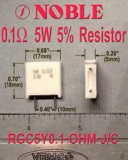 0.1 ohm 5% 5W Power Resistor, Qty 10