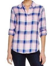 Glenn Shwartz Womens' Privé New Plaid Button down Shirt Size Blue Pink Size M