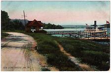 1901 View Along Harvey's Lake PA Boat Launch Wilkes-Barre Luzerne UDB Postcard