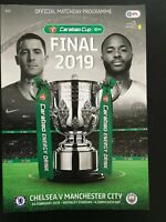 2019 CARABAO CUP FINAL PROGRAMME - CHELSEA v MANCHESTER CITY