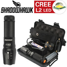 8000lm Genuine Shadowhawk X800 Tactical Flashlight LED Zoom Military Torch HOT!!