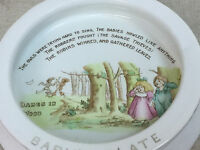 Vtg Shelley China Babes in Woods Nursery Rhyme Juvenile Baby Plate Dish