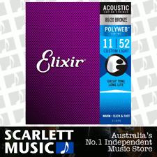 Elixir 11025 Acoustic Guitar Strings Polyweb Custom Light 11-52 80/20 A-PW-CL