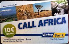 Call Africa 10 Euro Prepaid Callingcard der Telekom, Verkauf durch die Reisebank