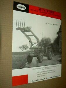 Prospectus Tracteur ZETOR Faucheux Minifort 1 Tractor Traktor Prospekt Brochure
