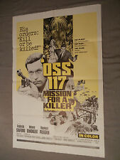 OSS 117 Mission for a Killer Original 1 sheet Movie Poster 41 x 27 (F. STAFFORD)
