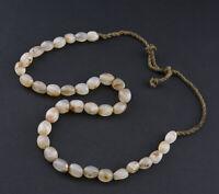 Ancien collier de Chamane Perle Dzi Agate pierre naturelle Tibet Nepal 26699