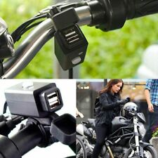 SAE To Dual USB Charger Socket Adapter Power Outlet for 12V 24V Motorcycle Car