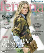 VERSION FEMINA n°908 26/08/2019  La chemise d'homme/ Zabou Breitman/ Petit déj'