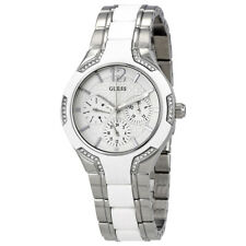 Guess White Dial Ladies Multifunction Watch W0556L1