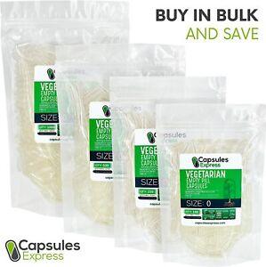 Size 0 Clear Empty Vegan/Vegetable Vegetarian Pill Capsules Veg Vcaps USA Made