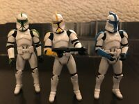 Star Wars Clone Trooper Builder 4 Pack Colored Entertainment Earth Exclusive