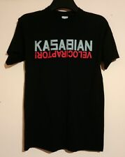 """KASABIAN 2011 VELOCIRAPTOR TOUR T SHIRT SIZE S 36"""" DATES AND VENUES ON BACK VGC"""