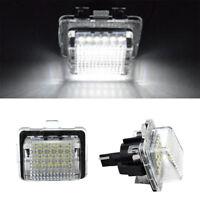 2 Pcs LED License Plate Lamp OEM for Mercedes-Benz W204/W212/W216/W221/W207