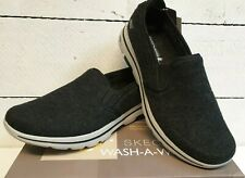 Men's Skechers 78800 Wash A Wools Go Walk 5 Flint Black Slip On Casual Shoes