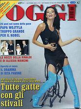 OGGI N°43/ 22/OTT/2003 * IL DRAMMA DI RITA PAVONE * NATALIA ESTRADA *