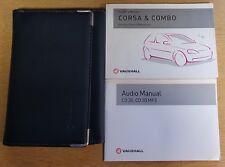 VAUXHALL CORSA & CORSA COMBO OWNERS MANUAL WALLET HANDBOOK 2001-2006 PACK C-668