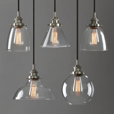 Modern Industrial Chandelier Brushed Steel Pendant Light lamp Shade Ceiling Lamp