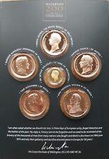 The Battle of Waterloo London Mint 14ct & bronze coin medal set Wellington