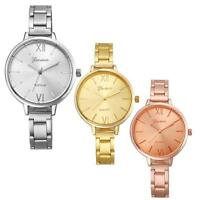 Geneva Women Fashion Watch Stainless Steel Analog Quartz Wrist Watch Watches New