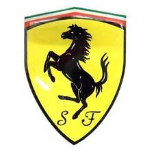 original Ferrari Wappen Emblem / Aufkleber / Plakette  3D Gel 7,5x10cm