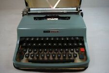 Vintage Collectible Olivetti Lettera 32 Manual Typewriter with Case Working WWII