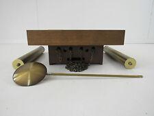Junghans Wanduhr mit Gewichten Eiche Holz & Messing