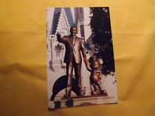 Vintage Walt Disney & Mickey Mouse bronze statue Walt Disney World postcard
