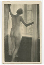 1920s German Nude YOUNG LADY photogravure printed photo postcard
