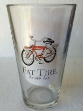 One (1) (BIKE) Fat Tire Amber Ale New Belgium Brewing Company Beer Pint Glass
