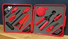 VINTAGE Miniatur Workstation set  - Handi Tool ~ PE-67 ~ IN RED PLASTIC CASE
