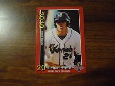 Mike Trout 2010 Minor League Cedar Rapids Kernels Rookie Card # 2 of 3 Red