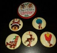 Disney Chip And Dale's Christmas Tree Spree Button Set See Retired 2017 outfp