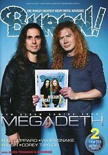 Burrn! Heavy Metal Magazine February 2016 Japan Megadeth Rush Def Leppard
