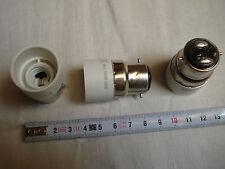 2 adaptateur réducteur B22 E14 blanc ou baïonnette B22 / vis E14