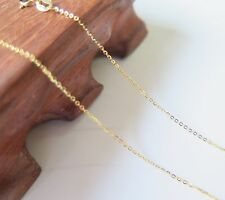 O Link Chain Necklace 45cm Length New Authentic 18K Yellow Gold 0.8mm