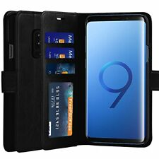 Cubevit Galaxy S9 Plus Case, [Support Wireless Charging] PU Leather Wallet Case,