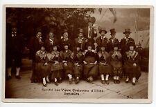 SUISSE SWITZERLAND Canton du VALAIS VAL D'ILLIEZ societe des vieux costumes
