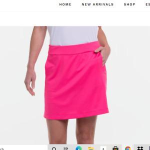 EP Pro NY Ladies Medium or Large Rosa Pull on Back mesh Pleat Golf skort NEW NWT
