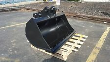 "New 48"" Takeuchi Tb175 Excavator Ditch Cleaning Bucket with Bolt On Edge"
