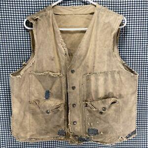 Vintage Filson Canvas Hunting Vest