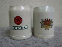 Lot of 2 Stoneware Beer Steins-Holsten & Koln