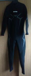 NWD ZCCO Neoprene Nylon Full Wetsuit Front Zip Full Body Diving Suit Large Men