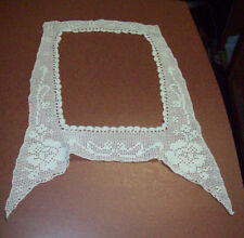 EMBROIDERED WOMAN'S COLLAR - FLORAL DESIGN - LARGE SIZE