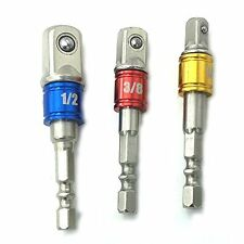 (3Pcs)PE-14000 Power Hand Tools Sockets Adapter Sets, Hex Square Nuts Driver Bit